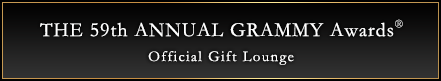 THE 59th ANNUAL GRAMMY AWARDS OFFICIAL GIFT LOUNGE
